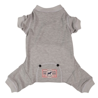 thermal dog pajamas grey