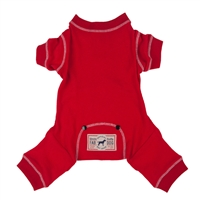 thermal dog pajamas red