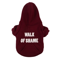 walk of shame dog hoodie