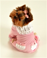 pink velvet dog jumper