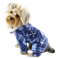blue argyle dog pajamas