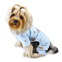 flannel teddy bear dog pajamas