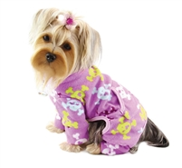 fleece girly skull dog pajamas