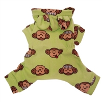 green silly monkey pajamas for dogs