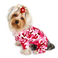 pink camo dog pajamas