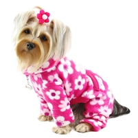 pink flowers dog pajamas