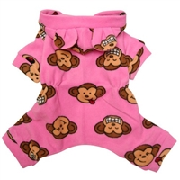 pink silly monkey pajamas for dogs