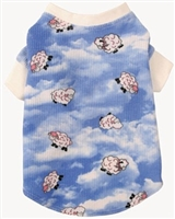 blue lamb thermal dog tee