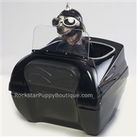 motorcycle pet carrier with windhsield