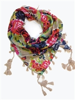 nude floral designer dog scarf for dogs