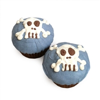 blue punk skull cupcakes for dogs