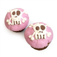 pink punk skull cupcakes for dogs