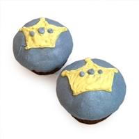 blue prince cupcakes for dogs