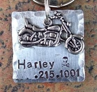 motorcycle biker dog id tag