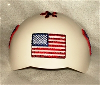 usa patriotic bling dog helmet