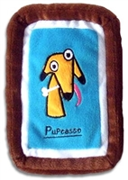 pupcasso plush dog toy