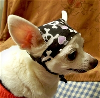 girly skull doo rag for dogs