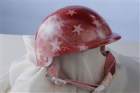 airbrushed pink stars dog helmet