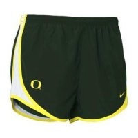 Green Oregon Ducks Women's Nike Tempo Shorts