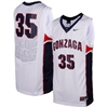 Nike Gonzaga Bulldogs Replica Basketball Jersey - #35 White