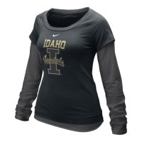 Nike Idaho Vandals Womens Long Sleeve Double Layer T-shirt