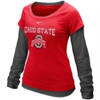 Nike Ohio State Buckeyes Womens Long Sleeve Double Layer T-shirt