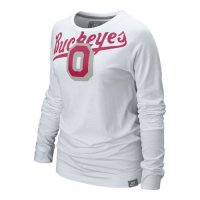 Nike Ohio State Buckeyes Womens Vault Long Sleeve T-shirt