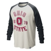 Nike Ohio State Buckeyes Vault Washed Waffle Graphic Crew Top