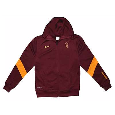 Nike Arizona State Sun Devils Womens Full-zip Performance Hooded Sweatshirt