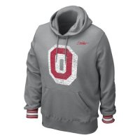 Nike Ohio State Buckeyes Vault Stripe Pull-over Hooded Sweatshirt