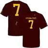 Nike Arizona State Sun Devils Replica Football T-shirt - #7 Maroon