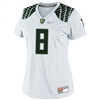 Nike Oregon Ducks Women's Replica Football Jersey - #8 White