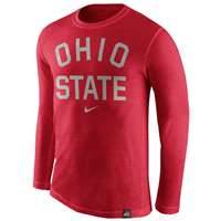 Nike Ohio State Buckeyes Tri-Blend Long Sleeve Conviction Crew Shirt