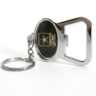 u s army metal key chain and bottle opener w domed insert. Black Bedroom Furniture Sets. Home Design Ideas