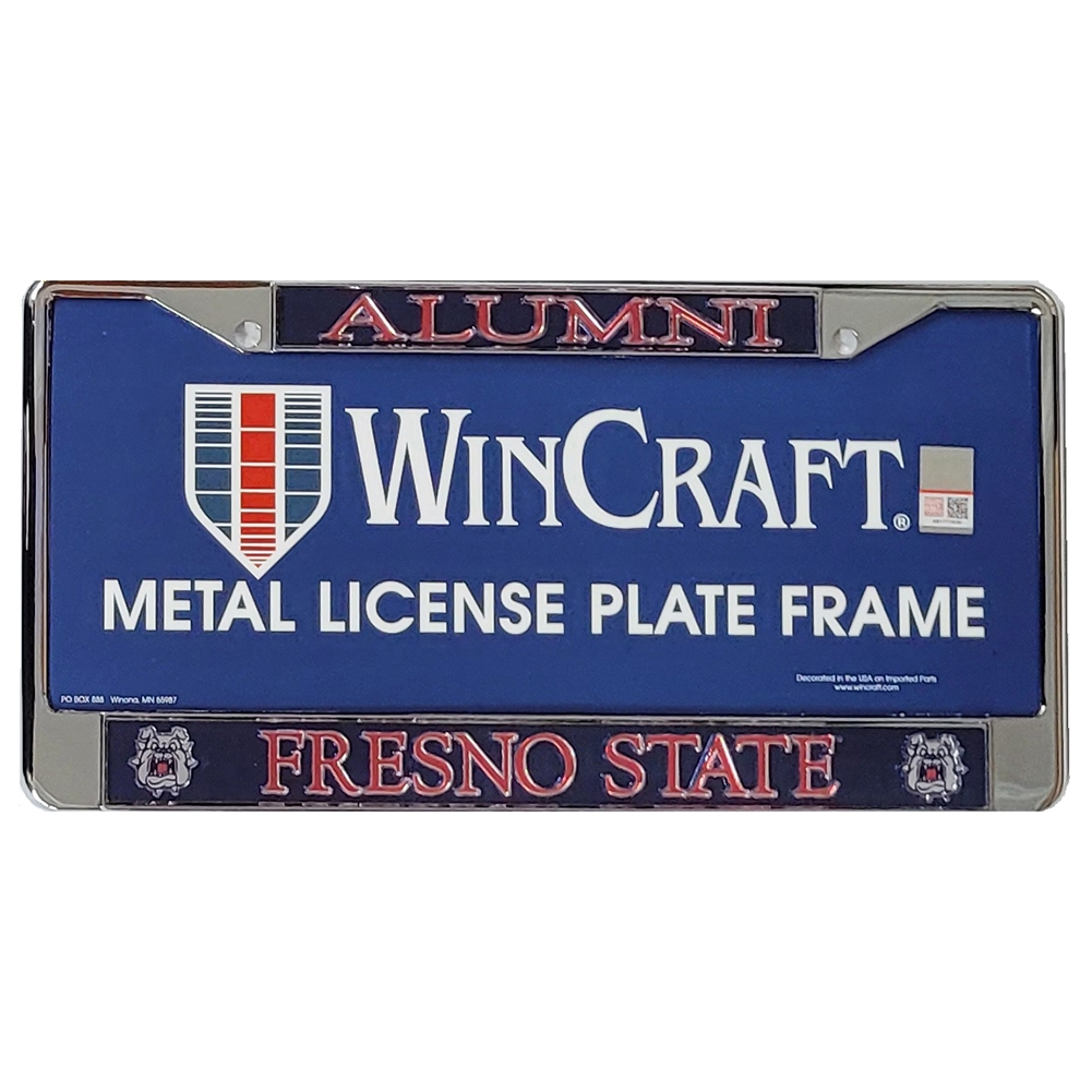 Fresno State Bulldogs Alumni Metal License Frame
