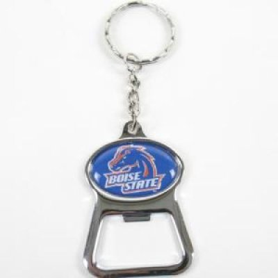 boise state metal key chain and bottle opener w domed insert. Black Bedroom Furniture Sets. Home Design Ideas