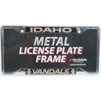 Idaho Metal License Plate Frame W/domed Insert - Idaho/vandals