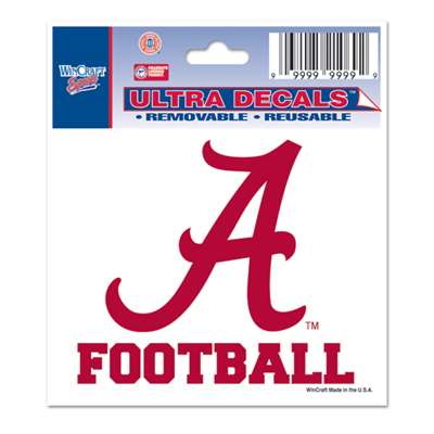 Alabama crimson tide decal 3 x 4 football for Alabama football mural