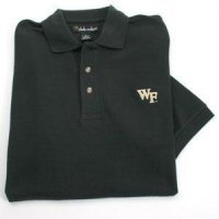 Wake Forest Solid Pique Polo