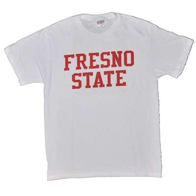 fresno state t shirt block print white