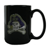 East Carolina Pirates 15oz Black Ceramic Mug