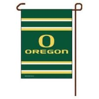 Green Oregon Ducks Garden Flag By Wincraft 11