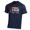 UA Gonzaga Bulldogs Final Four Performance T-Shirt - Navy