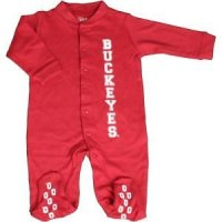 Ohio State Buckeyes Infant Footsie Pajamas
