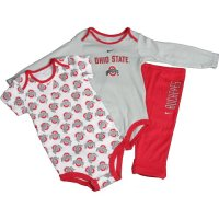 Ohio State Buckeyes Nike Infant 3 Piece Creeper And Pant Set
