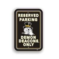 Wake Forest Plastic Parking Sign