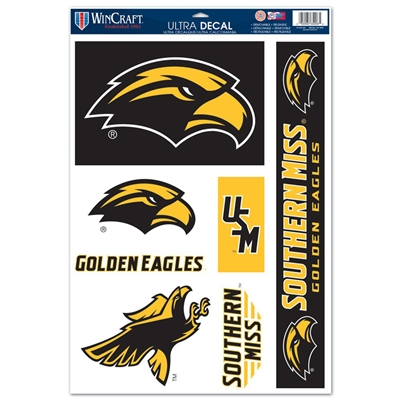 "Southern Mississippi Ultra Decal - 11"" X 17"""