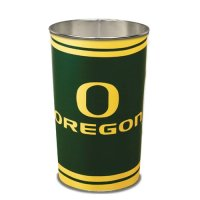 Oregon Ducks Metal Wastebasket