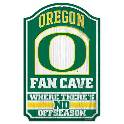 Oregon Ducks Fan Cave Wood Sign