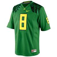 Nike Oregon Ducks Youth Replica Football Gameday Jersey - Apple Green #8 Wings